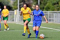 Women's Premier Football - Powerex Petone Premier v Victoria University at Petone Memorial Turf, Lower Hutt, New Zealand on Sunday 15 April 2018.<br /> Photo by Masanori Udagawa. <br /> www.photowellington.photoshelter.com