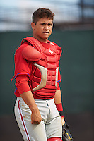 Philadelphia Phillies Rafael Marchan (8) during an instructional league game against the Toronto Blue Jays on October 3, 2015 at the Carpenter Complex in Clearwater, Florida.  (Mike Janes/Four Seam Images)