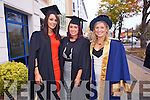 Rebecca Helebert, Amy Ryan, Carol Ni Chlochasaigh at the Institute of Technology Tralee  Autumn Conferring of Awards Ceremony at the Brandon Hotel on Friday