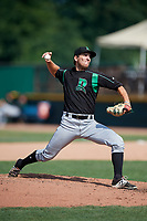 Dayton Dragons relief pitcher Ryan Nutof (23) delivers a pitch during a game against the Beloit Snappers on July 22, 2018 at Pohlman Field in Beloit, Wisconsin.  Dayton defeated Beloit 2-1.  (Mike Janes/Four Seam Images)