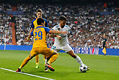 13th September 2017, Santiago Bernabeu, Madrid, Spain; UCL Champions League football, Real Madrid versus Apoel; Praxitelis Vouros (29) Apoel Francisco Roman Alarcon (22) Real Madrid