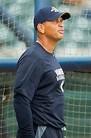 Alex Rodriguez #13 of the New York Yankees prior to playing in a rehab game for the Charleston RiverDogs against the Rome Braves at Joseph P. Riley Park on July 2, 2013 in Charleston, South Carolina.  The RiverDogs defeated the Braves 4-2.   (Brian Westerholt/Four Seam Images)