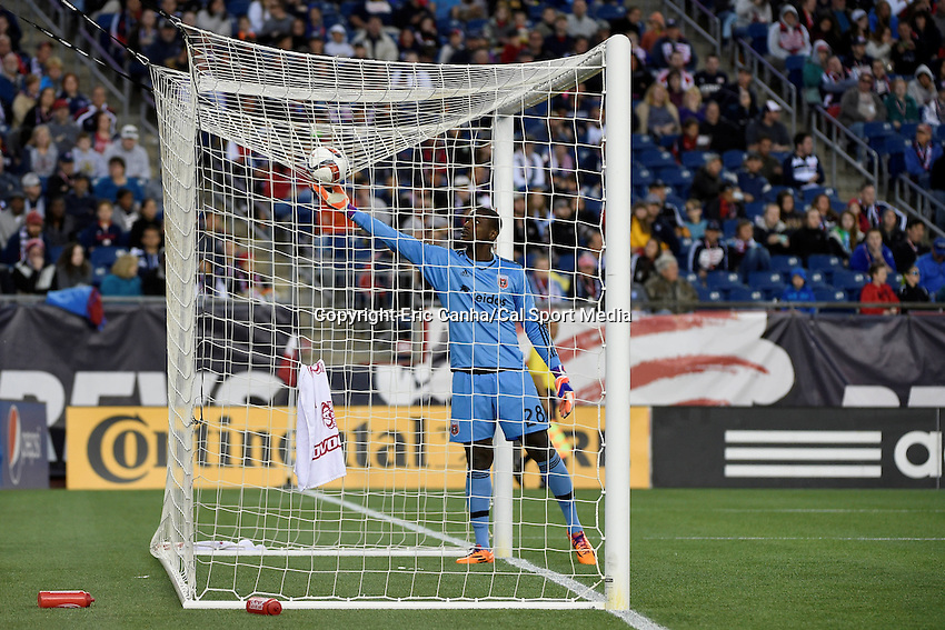 May 23, 2015 - Foxborough, Massachusetts, U.S. - D.C. United goalkeeper Bill Hamid (28) retrieves the ball during the MLS game between DC United and the New England Revolution held at Gillette Stadium in Foxborough Massachusetts. The New England Revolution and D.C. United ended the game tied 1-1.  Eric Canha/CSM