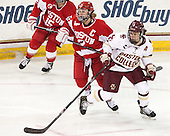 Marie-Philip Poulin (BU - 29), Alex Carpenter (BC - 5) -  The Boston College Eagles defeated the visiting Boston University Terriers 5-0 on BC's senior night on Thursday, February 19, 2015, at Kelley Rink in Conte Forum in Chestnut Hill, Massachusetts.