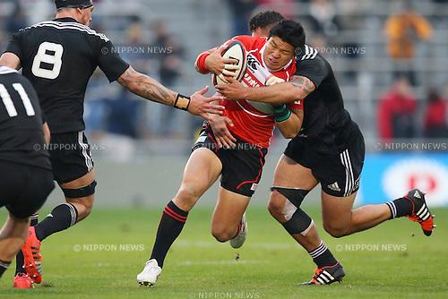 Harumichi Tatekawa (JPN),<br /> NOVEMBER 8, 2014 - Rugby : <br /> International rugby friendly match <br /> between Japan XV 18-20 Maori All Blacks <br /> at Chichibunomiya Rugby Stadium, Tokyo, Japan. <br /> (Photo by Shingo Ito/AFLO SPORT) [1195]
