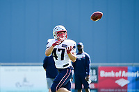 August 1, 2017: New England Patriots tight end Glenn Gronkowski (47) makes a catch at the New England Patriots training camp held at Gillette Stadium, in Foxborough, Massachusetts. Eric Canha/CSM