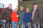 Mike McMahon, Mary Clancy, Denis Clancy, Elizabeth Holmes, John O'Sullivan at the Abbeydorney Ploughing Match on Sunday
