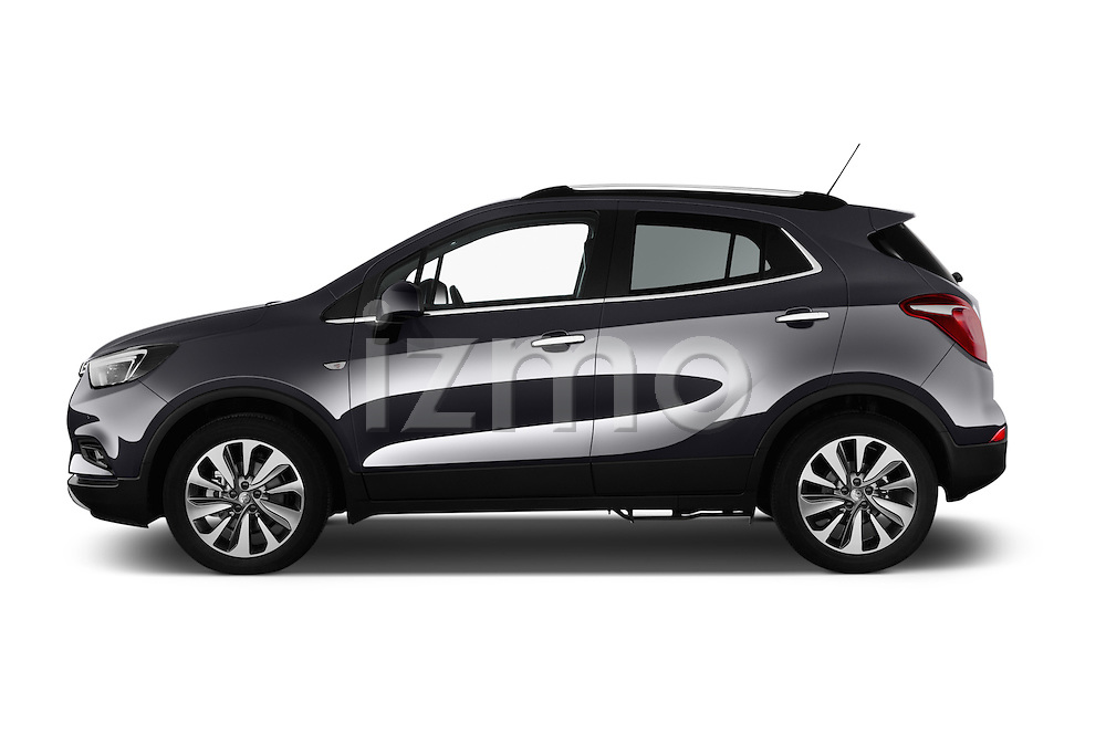 Car Driver side profile view of a 2017 Opel Mokka-X Innovation 5 Door SUV Side View