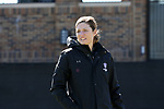 DURHAM, NC - FEBRUARY 18: Northwestern head coach Kelly Amonte Hiller. The Duke University Blue Devils hosted the Northwestern University Wildcats on February 18, 2018, at Koskinen Stadium in Durham, NC in women's college lacrosse match. Duke won the game 9-8.