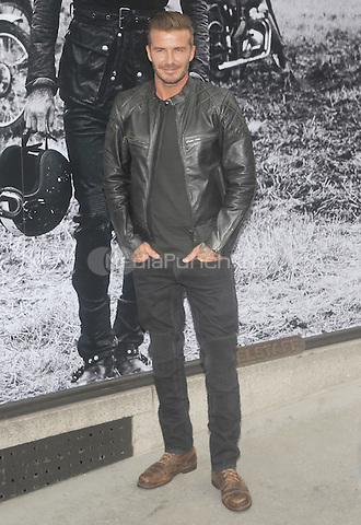 New York, NY-September 9: David Beckham at the Belstaff House on September 9, 2014  in New York City. Credit: John Palmer/MediaPunch
