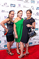 Ilabena Arango, Designer Gabriella Arango, and Krishna Arango attend Real Housewives of Miami Season 3 VIP Premiere Party, at Lou La Vie, Miami, FL, on August 6, 2013