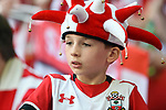 A young Southampton fan before the start of the FA cup semi-final match at Wembley Stadium, London. Picture date 22nd April, 2018. Picture credit should read: Robin Parker/Sportimage