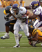 East Carolina running back Jonathan Williams. The WVU Mountaineers defeated the East Carolina Pirates 35-20 at Mountaineer Field at Milan Puskar Stadium, Morgantown, West Virginia on September 12, 2009.