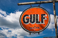 Bob's Gasoline Alley is an outdoor and indoor collection fo over 300 service station signs and memorabilla.