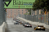 Baltimore -September 2: Indy Cars race the streets of Baltimore in the  Baltimore Grand Prix at the Baltimore Temporary Street Course on September 2, 2012 in Baltimore, Maryland (Ryan Lasek/Eclipse Sportswire)