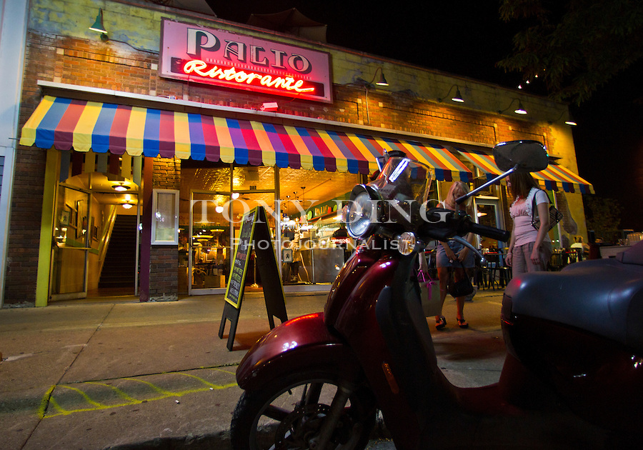 Palio (327 S. Main St.: 734-456-3463; www.paliorestaurant.com) is a favorite for post-game revelry, Friday, Sept. 2, 2011 in Ann Arbor, Mich. (Tony Ding for The New York Times)