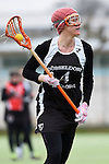 Frankfurt am Main, Germany, March 14: During the Damen 1. Bundesliga West Lacrosse match between SC 1880 Frankfurt and Duesseldorfer Hirschkuehe on March 14, 2015 at the SC 1880 Frankfurt in Frankfurt am Main, Germany. Final score 20-13 (13-8). (Photo by Dirk Markgraf / www.265-images.com) *** Local caption *** Philine Stamer #4 of Duesseldorfer Hirschkuehe