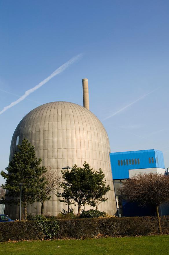 Nederland, Delft, 18 febr 2008.Experimentele kernreaktor van de universiteit van Delft. .Wordt niet gebruikt voor electriciteitsproductie voor het net. Faculteit natuurwetenschappen.Foto (c) Michiel Wijnbergh