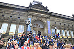 Leeds the start of the Men Elite Road Race of the UCI World Championships 2019 running 280km from Leeds to Harrogate, England. 29th September 2019.<br /> Picture: Eoin Clarke | Cyclefile<br /> <br /> All photos usage must carry mandatory copyright credit (© Cyclefile | Eoin Clarke)