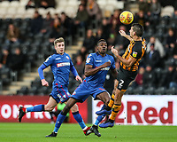Hull City's Eric Lichaj defends under pressure from Bolton Wanderers' Sammy Ameobi<br /> <br /> Photographer Andrew Kearns/CameraSport<br /> <br /> The EFL Sky Bet Championship - Hull City v Bolton Wanderers - Tuesday 1st January 2019 - KC Stadium - Hull<br /> <br /> World Copyright © 2019 CameraSport. All rights reserved. 43 Linden Ave. Countesthorpe. Leicester. England. LE8 5PG - Tel: +44 (0) 116 277 4147 - admin@camerasport.com - www.camerasport.com