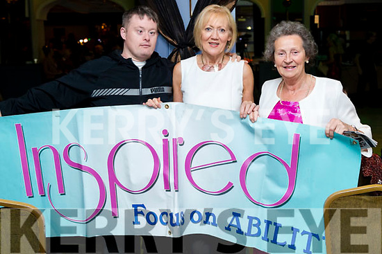 David Malone, Fran Malone and Carmel Quilter O'Neill at the John Mitchels GAA 'Strictly Come Dancing' at Ballygarry House Hotel on Sunday night.