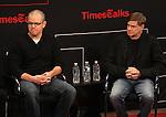 Matt Damon & Gus Van Sant on stage at TimesTalks at the Times Center in New York City. November 27, 2012.