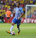 Markus Suttner of Brighton & Hove Albion during the premier league match at the Vicarage Road Stadium, Watford. Picture date 26th August 2017. Picture credit should read: Robin Parker/Sportimage
