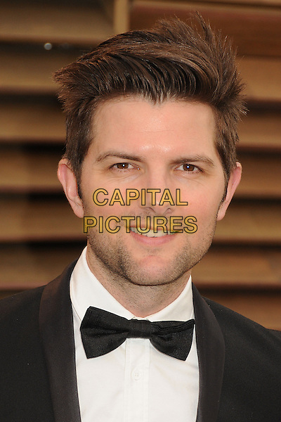 02 March 2014 - West Hollywood, California - Adam Scott. 2014 Vanity Fair Oscar Party following the 86th Academy Awards held at Sunset Plaza.  <br /> CAP/ADM/BP<br /> &copy;Byron Purvis/AdMedia/Capital Pictures
