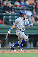 Outfielder Alex Hudak (8) of the Lexington Legends in a game against the Greenville Drive on Friday, August 16, 2013, at Fluor Field at the West End in Greenville, South Carolina. Greenville won, 2-1. (Tom Priddy/Four Seam Images)