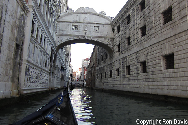 &quot;According to legend the Bridge of Sighs, built in 1600 to link the Doge's Palace with the new prisons, takes its name from the lamentations of the prisoners as they made their way to offices of the State Inquisitors.&quot; <br />