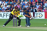 Ravi Bopara of Essex in batting action as Steven Davies looks on from behind the stumps during Essex Eagles vs Somerset, NatWest T20 Blast Cricket at The Cloudfm County Ground on 13th July 2017