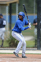 Toronto Blue Jays Richard Urena (16) during a minor league spring training game against the New York Yankees on March 16, 2014 at Englebert Minor League Complex in Dunedin, Florida.  (Mike Janes/Four Seam Images)