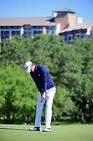 Smylie Kaufman (USA) watches his putt on 10 during round 4 of the Valero Texas Open, AT&amp;T Oaks Course, TPC San Antonio, San Antonio, Texas, USA. 4/23/2017.<br /> Picture: Golffile | Ken Murray<br /> <br /> <br /> All photo usage must carry mandatory copyright credit (&copy; Golffile | Ken Murray)