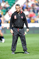 Nigel Davies, Gloucester Rugby Director of Rugby, looks on before the Aviva Premiership match between London Wasps and Gloucester Rugby at Twickenham Stadium on Saturday 19th April 2014 (Photo by Rob Munro)