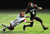 10/07/11 - Fullerton Ca. ; Troy QB #4 Nathan Connolly carried 5 times for 64 yards and a TD.