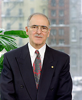 April 1993 exclusive file photo - <br /> Ulric Blackburn, President,<br />  Union des Municipalites du Quebec (1993-1995), Mayor, Chicoutimi (1981-1997).<br /> <br /> He passed away at aged 72, on June 2nd, 1999.PHOTO : Agence Quebec Presse - stephane Fournier