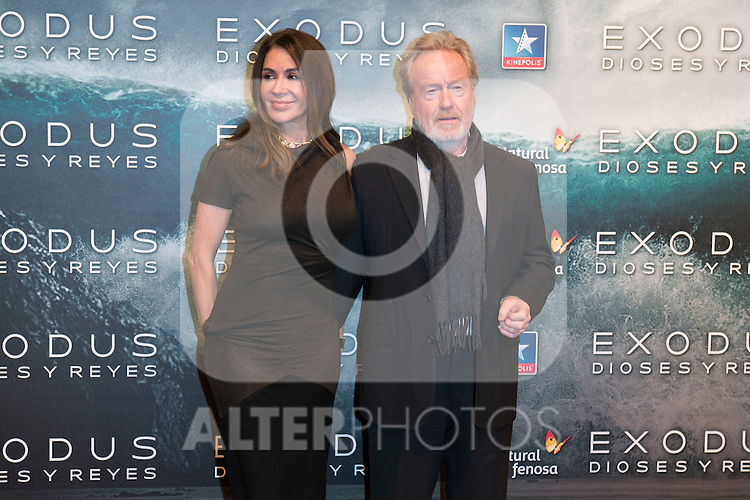 "Ridley Scott attend the Premiere of the movie ""EXODUS: GODS AND KINGS"" at callao Cinema in Madrid, Spain. December 4, 2014. (ALTERPHOTOS/Carlos Dafonte)"
