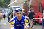 Gianluca Brambilla (ITA) Quick-Step Floors at sign on in Verviers before the start of Stage 3 of the 104th edition of the Tour de France 2017, running 212.5km from Verviers, Belgium to Longwy, France. 3rd July 2017.<br /> Picture: Eoin Clarke | Cyclefile<br /> <br /> <br /> All photos usage must carry mandatory copyright credit (&copy; Cyclefile | Eoin Clarke)
