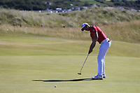 Jacques Kruyswijk (RSA) takes his birdie putt on the 2nd green during Friday's Round 2 of the 2018 Dubai Duty Free Irish Open, held at Ballyliffin Golf Club, Ireland. 6th July 2018.<br /> Picture: Eoin Clarke | Golffile<br /> <br /> <br /> All photos usage must carry mandatory copyright credit (&copy; Golffile | Eoin Clarke)