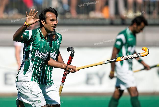 01/07/2015<br /> HWL Semi Final Antwerp Belgium 2015<br /> Great Britain v Pakistan Men<br /> Muhammad Umar Bhutta<br /> Photo: Grant Treeby