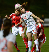 20180228 - LARNACA , CYPRUS : Spanish Patricia Guijarro Guiterez (12) pictured in a duel with Austrian Laura Feiersinger (left)  during a women's soccer game between Spain and Austria , on wednesday 28 February 2018 at GSZ Stadium in Larnaca , Cyprus . This is the first game in group B for Spain and Austria during the Cyprus Womens Cup , a prestigious women soccer tournament as a preparation on the World Cup 2019 qualification duels. PHOTO SPORTPIX.BE | DAVID CATRY