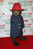 HOLLYWOOD, CA - NOVEMBER 26: Paddington Bear, at 86th Annual Hollywood Christmas Parade at Hollywood Blvd in Hollywood, California on November 26, 2017. Credit: Faye Sadou/MediaPunch /NortePhoto NORTEPHOTOMEXICO