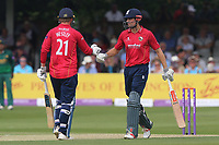 Tom Westley (L) and Alastair Cook of Essex during Essex Eagles vs Notts Outlaws, Royal London One-Day Cup Semi-Final Cricket at The Cloudfm County Ground on 16th June 2017