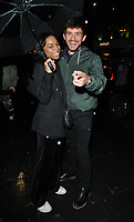 Pippa Bennett-Warner and Jonathan Bailey at the Perception at W launch party, W Hotel, Wardour Street, London, England, UK, on Tuesday 07 November 2017.<br /> CAP/CAN<br /> &copy;CAN/Capital Pictures