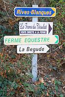 Rives Blanques, La Ferme du Teoulat, La Begude. Chateau Rives-Blanques. Limoux. Languedoc. France. Europe.
