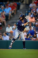 Binghamton Rumble Ponies Kevin Kaczmarski (10) at bat during an Eastern League game against the Richmond Flying Squirrels on May 29, 2019 at The Diamond in Richmond, Virginia.  Binghamton defeated Richmond 9-5 in ten innings.  (Mike Janes/Four Seam Images)