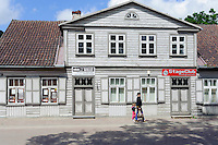 In der Altstadt von Kuldiga, Lettland, Europa