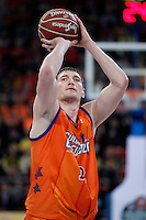 Valencia Basket Club's Serhiy Lishchuk during Spanish Basketball King's Cup semifinal match.February 07,2013. (ALTERPHOTOS/Acero) /NortePhoto