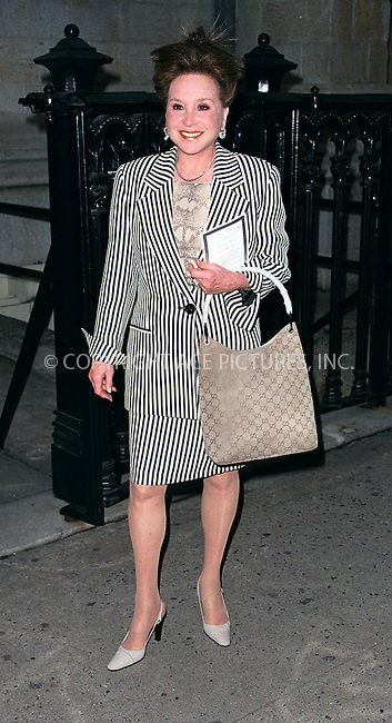NY Post gossip columnist CINDY ADAMS at Liza Minnelli's wedding rehearsal at Marble Collegiate Church in New York. March 15, 2002.  © 2002 by Alecsey Boldeskul/NY Photo Press.   ..*PAY-PER-USE*      ....NY Photo Press:  ..phone (646) 267-6913;   ..e-mail: info@nyphotopress.com