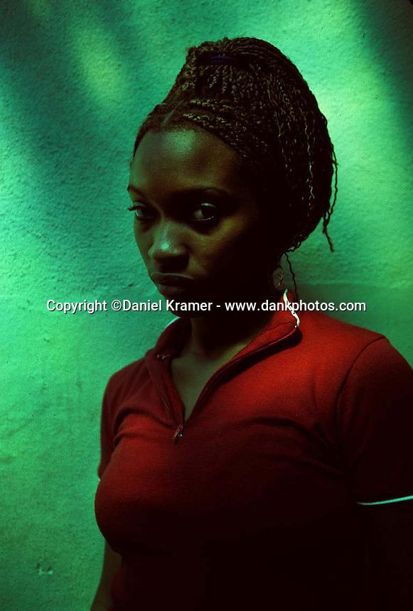 Taimy Filiu Zayas, 19, has been dancing at the Tropicana nightclub in Havana for two years. (2000)